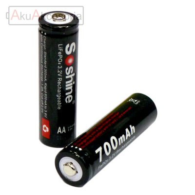 Soshine 14500 / AA - 700mAh 3,2V LiFePo4